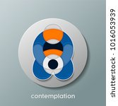 trendy contemplation circle... | Shutterstock .eps vector #1016053939