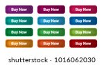 set of 12 isolated web buttons... | Shutterstock .eps vector #1016062030