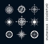vector antique compasses with... | Shutterstock .eps vector #1016069140