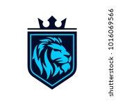 lion logo template | Shutterstock .eps vector #1016069566