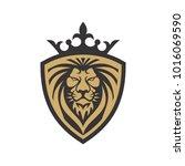 lion logo template | Shutterstock .eps vector #1016069590