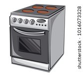 illustration of electric cooker | Shutterstock . vector #1016073328