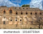 pompei  italy. 02 01 2018. the... | Shutterstock . vector #1016073364
