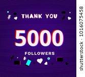 5000 followers thank you post... | Shutterstock .eps vector #1016075458