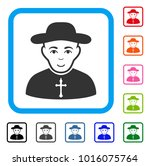 joyful christian priest vector... | Shutterstock .eps vector #1016075764