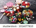 candies with jelly and sugar.... | Shutterstock . vector #1016077810