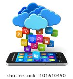 cloud computing and mobility... | Shutterstock . vector #101610490