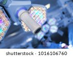 surgical light on the... | Shutterstock . vector #1016106760