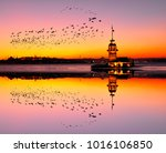 maiden's tower in istanbul ... | Shutterstock . vector #1016106850