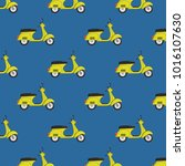colorful scooter pattern.... | Shutterstock .eps vector #1016107630