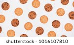 homemade soft and chewy... | Shutterstock . vector #1016107810