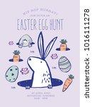 easter egg hunt poster.... | Shutterstock .eps vector #1016111278