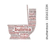 bulimia nervosa symbol isolated ... | Shutterstock . vector #101611234