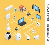 smart home internet of things... | Shutterstock . vector #1016119348