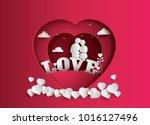 illustration of love and... | Shutterstock .eps vector #1016127496