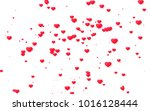 red and pink heart. valentine's ... | Shutterstock . vector #1016128444