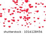 red and pink heart. valentine's ... | Shutterstock . vector #1016128456