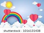 card valentine's day balloon... | Shutterstock .eps vector #1016131438