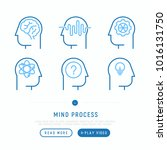 mind process thin line icons... | Shutterstock .eps vector #1016131750
