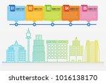 colorful gradient line... | Shutterstock .eps vector #1016138170