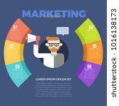marketing strategy with... | Shutterstock .eps vector #1016138173