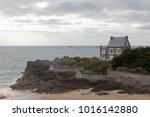 traditional granite house on... | Shutterstock . vector #1016142880
