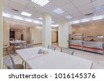 Stock photo empty dining room in the office center or university 1016145376