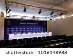 davos  switzerland   jan 26 ... | Shutterstock . vector #1016148988