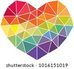 vector geometric heart  low...   Shutterstock .eps vector #1016151019