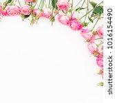 Floral Frame Made Of Pastel...