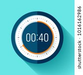 stopwatch icon in flat style ... | Shutterstock .eps vector #1016162986