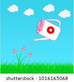 paper heart for valentantine's... | Shutterstock .eps vector #1016165068