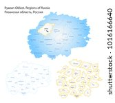 outline map of ryazan oblast.... | Shutterstock .eps vector #1016166640