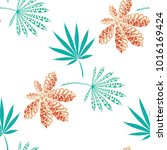 tropical seamless pattern with... | Shutterstock .eps vector #1016169424