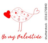 paper heart for valentantine's... | Shutterstock . vector #1016170840