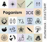 vector illustration of pagan... | Shutterstock .eps vector #1016172649