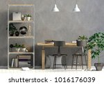 modern interior in the style... | Shutterstock . vector #1016176039