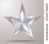 silver star with transparent... | Shutterstock .eps vector #1016176603