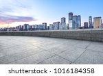 empty marble floor with... | Shutterstock . vector #1016184358