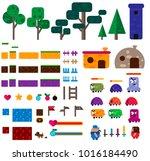 indie games graphic mega set.... | Shutterstock .eps vector #1016184490