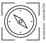 zone focusing line icon. focus ... | Shutterstock .eps vector #1016184754
