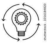 creative process  line icon... | Shutterstock .eps vector #1016184820