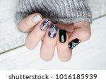 manicures in the scandinavian... | Shutterstock . vector #1016185939