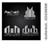 real estate logo set   abstract ... | Shutterstock .eps vector #1016186608
