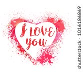 happy valentines day card | Shutterstock .eps vector #1016186869