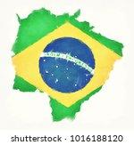 mato grosso do sul watercolor... | Shutterstock . vector #1016188120