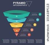 pyramid infographics. funnel... | Shutterstock .eps vector #1016189113