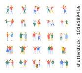 people flat vector icons set   Shutterstock .eps vector #1016189416