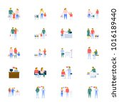 people vector icons collection... | Shutterstock .eps vector #1016189440