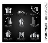real estate logo set   abstract ...   Shutterstock .eps vector #1016190643